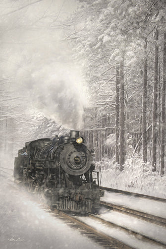 Lori Deiter LD875 - Snowy Locomotive - Train, Locomotive, Snow, Landscape, Winter, Photography from Penny Lane Publishing