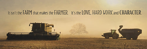 Lori Deiter LD895 - The Farmer - Farm, Tractor, Inspirational, Photography, Sign, Farm Life from Penny Lane Publishing