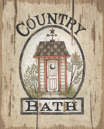 Linda Spivey LS1153 - Country Bath Outhouse - Outhouse, Bath, Signs from Penny Lane Publishing