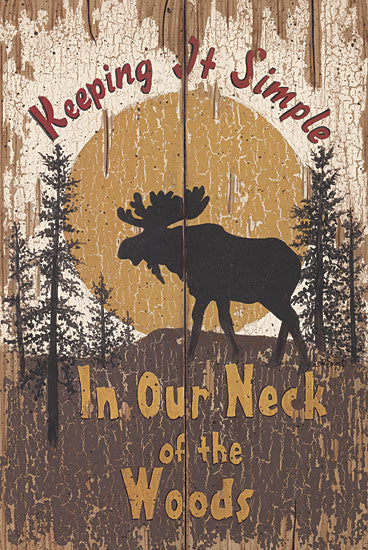 Linda Spivey LS1288 - Keeping it Simple - Moose, Lodge, Moon from Penny Lane Publishing