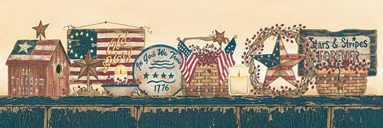 Linda Spivey LS1334 - Stars and Stripes Forever  - Stars, Birdhouse, Plate, Baskets, USA, America from Penny Lane Publishing