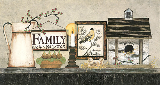 Linda Spivey LD1365 - Family  - Family, Pitcher, Birdhouse, Birds, Candle from Penny Lane Publishing