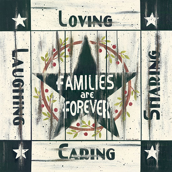 Linda Spivey LS1439 - Families are Forever - Barn Star, Typography, Inspiring from Penny Lane Publishing