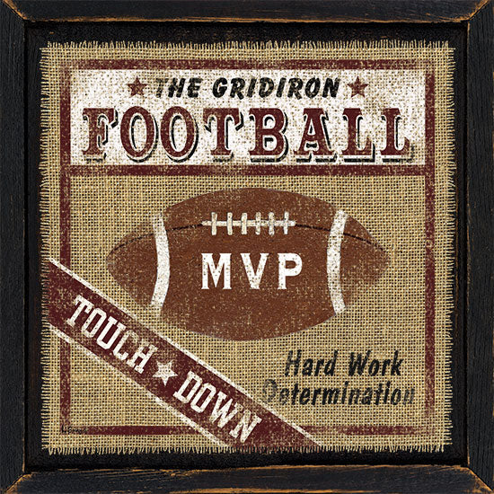 Linda Spivey LS1496 - Football - Football, Burlap, Signs from Penny Lane Publishing
