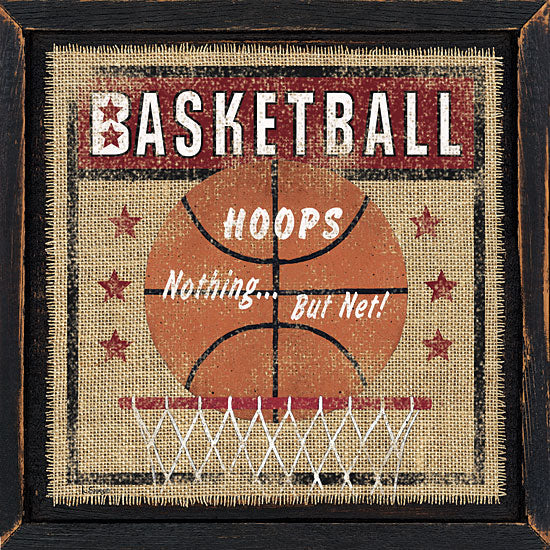 Linda Spivey LS1497 - Basketball - Basketball, Burlap, Signs, Ball from Penny Lane Publishing