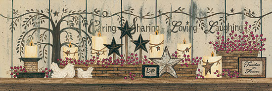 Linda Spivey LS1517 - Willow Tree Shelf Collection  - Willow Tree, Stars, Basket, Berries, Candle from Penny Lane Publishing