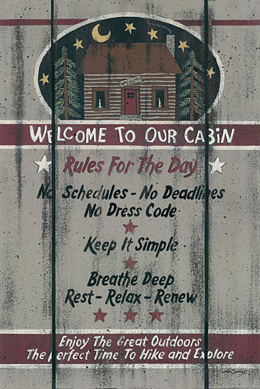 Linda Spivey LS1542 - Cabin Rules for the Day - Cabin, Welcome, Rules from Penny Lane Publishing