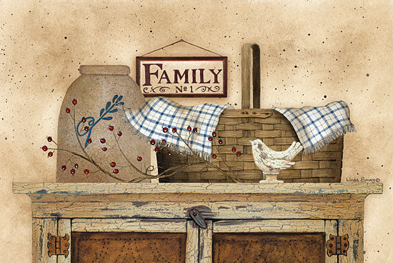 Linda Spivey LS1543 - Family Still Life - Family, Basket, Crock, Antiques from Penny Lane Publishing