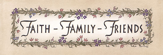Linda Spivey LS1554 - Faith-Family-Friends - Signs, Typography, Flowers, Family from Penny Lane Publishing