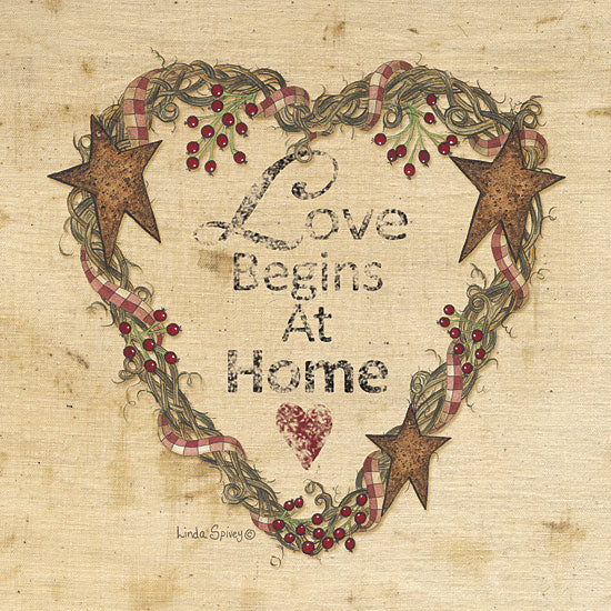 Linda Spivey LS1569 - Love Begins at Home - Barn Star, Typography, Signs, Heart from Penny Lane Publishing
