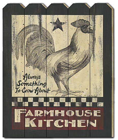 Linda Spivey LS1599PF - Farmhouse Kitchen - Country, Primitive, Rooster, Barnstar, Farmhouse, Kitchen, Animals, Wood Slat, Picket Fence from Penny Lane Publishing
