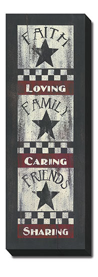 Linda Spivey LS1601 - Faith-Family-Friends - Barn Star, Primitive, Sign, Primitive, Inspirational, Farm Life from Penny Lane Publishing