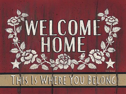 Linda Spivey LS1620 - Welcome Home - Welcome, Inspirational, Sign from Penny Lane Publishing