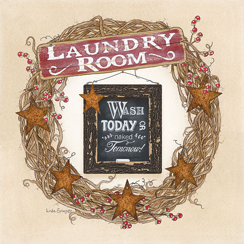 Linda Spivey LS1628 - Laundry Room Wreath - Country, Wreath, Laundry, Barnstar from Penny Lane Publishing