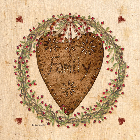 Linda Spivey LS1656 - Punched Tin Heart on Wreath - Punched Tin, Heart, Wreath, Family from Penny Lane Publishing