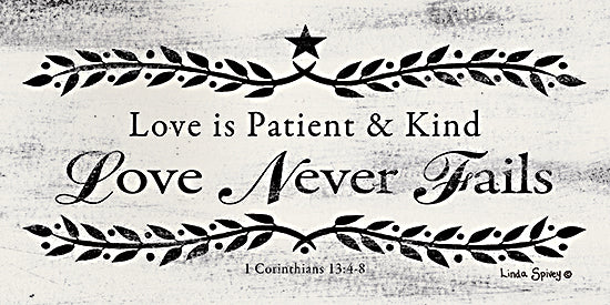 Linda Spivey LS1801 - LS1801 - Love is Patient    - 18x9 Signs, Typography, 1 Corinthians 13:4-8, Bible, Quotes from Penny Lane
