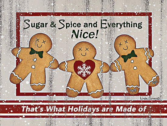 Linda Spivey LS1820 - LS1820 - Farmhouse Gingerbread - 16x12 Gingerbread Men, Sugar and Spice, Holidays, Christmas, Cookies from Penny Lane