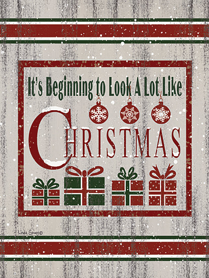 Linda Spivey LS1823 - LS1823 - Farmhouse Presents - 12x16 It's Beginning to Look a Lot Like Christmas, Holidays, Christmas, Presents, Signs from Penny Lane