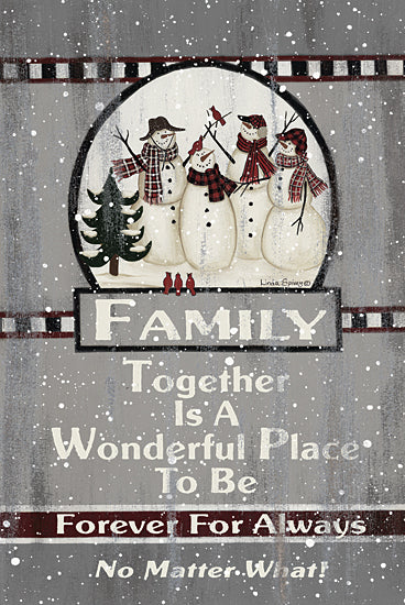 Linda Spivey LS1824 - LS1824 - Snow Family - 12x16 Family, Snowmen, Winter, Love, Signs from Penny Lane