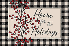 LS1829 - Home for the Holidays with Berries - 16x12