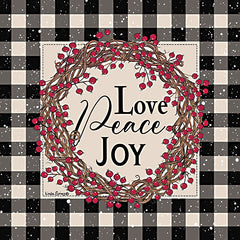 LS1830 - Love Peace Joy with Berries - 12x12