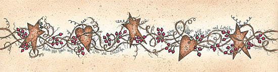 Linda Spivey LS1517 - Viney Tin Row - Rusty, Stars, Hearts, Berries from Penny Lane Publishing