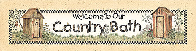 Linda Spivey LS457A - Bath Welcome - Bath, Welcome, Outhouse, Signs from Penny Lane Publishing