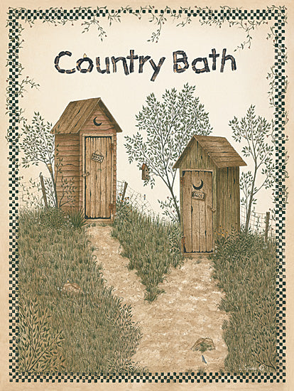 Linda Spivey LS519 - His and Hers Outhouses - Outhouses, Path, Bath from Penny Lane Publishing