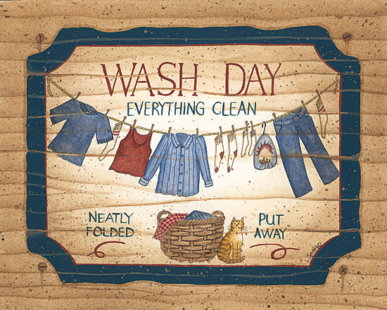 Linda Spivey LS612 - Wash Day - Wash, Laundry, Basket, Signs from Penny Lane Publishing