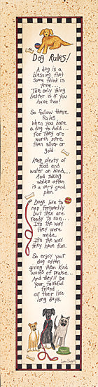 Linda Spivey LS640 - Dog Rules   - Dog, Rules, Typography from Penny Lane Publishing