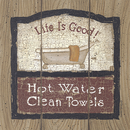 Linda Spivey LS872 - Hot Water - Bath, Tub, Signs from Penny Lane Publishing