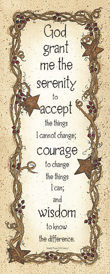 Linda Spivey LS908 - Serenity Prayer  - Serenity, Prayer, Religious, Signs, Inspirational from Penny Lane Publishing