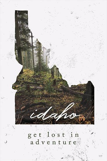 Lux + Me Designs LUX202 - LUX202 - Idaho        - 12x18 Idaho, Get Lost in Adventure, Forest, State, USA from Penny Lane