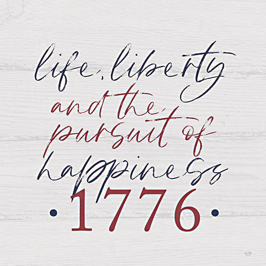 Lux + Me Designs LUX379 - LUX379 - Pursuit of Happiness - 12x12 Pursuit of Happiness, 1776, America, Declaration of Independence, Patriotic from Penny Lane
