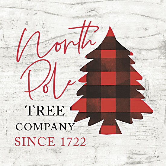Lux + Me Designs LUX388 - LUX388 - North Pole Tree Company - 12x12 North Pole, Christmas Trees, Tree Company, Red & Black Plaid, Signs from Penny Lane