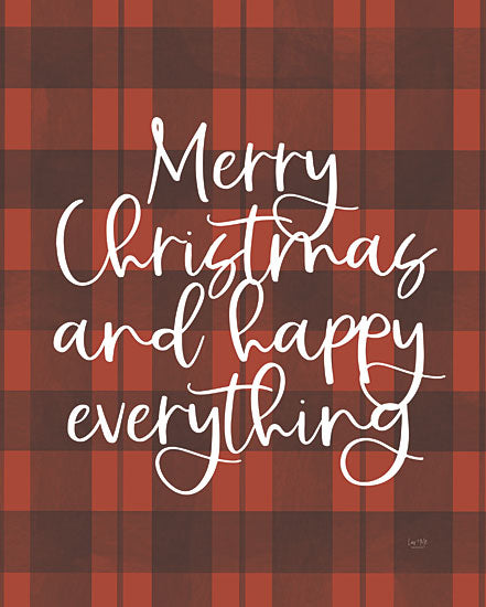 Lux + Me Designs LUX396 - LUX396 - Happy Everything - 12x16 Merry Christmas, Holidays, Red and Black Plaid, Happy Everything, Signs from Penny Lane