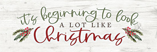 Lux + Me Designs LUX399B - LUX399B - It's Beginning to Look - 36x12 It's Beginning to Look Like Christmas, Christmas, Holidays, Signs, Berries, Calligraphy from Penny Lane