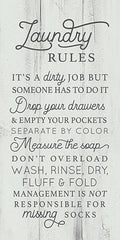 LUX411 - Laundry Rules - 9x18