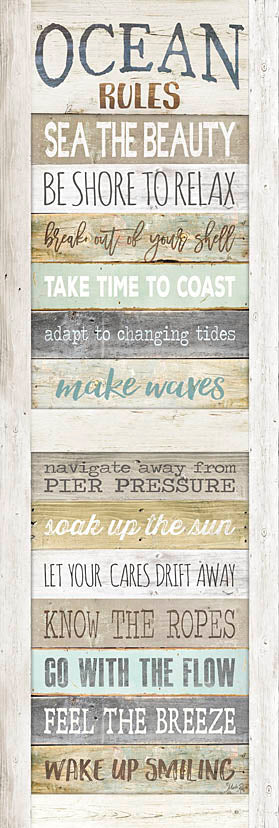 Marla Rae MA2489A - MA2489A - Ocean Rules - 12x36 Rules, Coastal, Beach, Signs, Inspirational, Wood Planks from Penny Lane