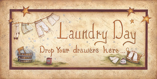 Mary Ann June MARY180A - Drop Your Drawers Here - Laundry, Wash Line, Signs from Penny Lane Publishing