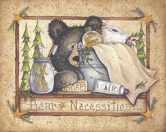 Mary Ann June MARY238 - Bear Necessities - Bear, Bath, Towel, Bucket from Penny Lane Publishing