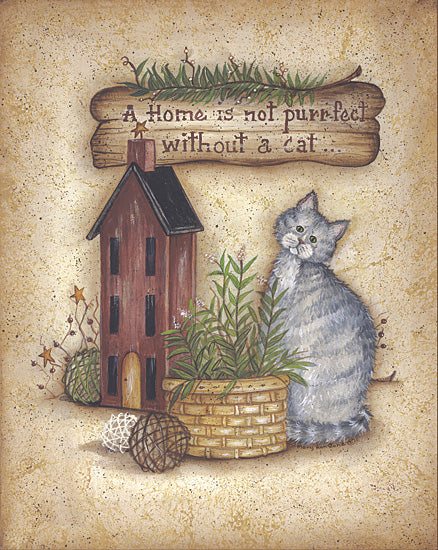 Mary Ann June MARY246 - A Perr-fect Home - Cat, Birdhouse, Basket, Signs from Penny Lane Publishing