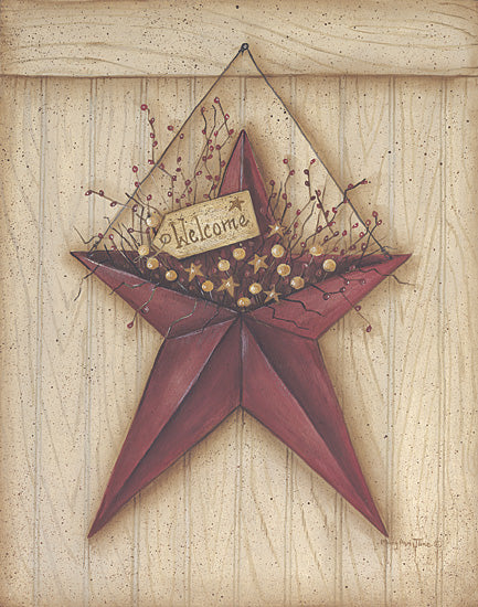 Mary Ann June MARY268 - Welcome Barn Star - Barn Star, Berries, Welcome from Penny Lane Publishing