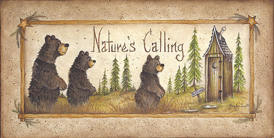 Mary Ann June MARY291 - Nature's Calling - Bears, Outhouse, Trees from Penny Lane Publishing