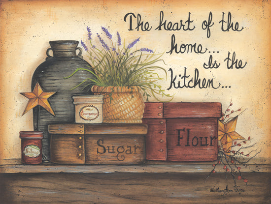 Mary Ann June MARY333 - Heart of the Home - Kitchen, Crocks, Canisters, Barn Stars from Penny Lane Publishing