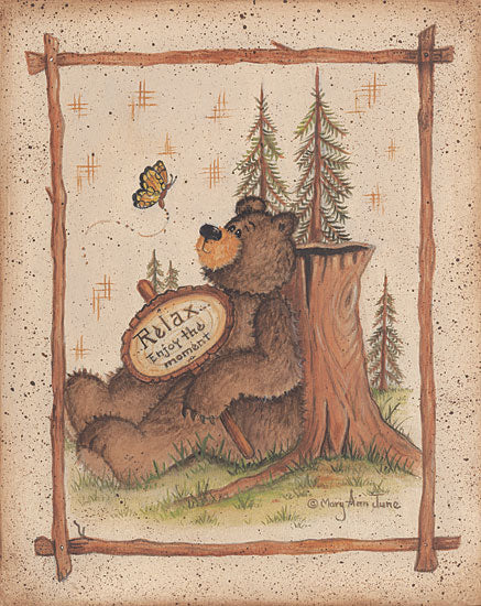 Mary Ann June MARY382 - Enjoy the Moment - Bear, Trees from Penny Lane Publishing