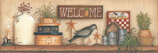 Mary Ann June MARY425 - Welcome  - Welcome, Crow, Crock, Boxes, Pineapple from Penny Lane Publishing