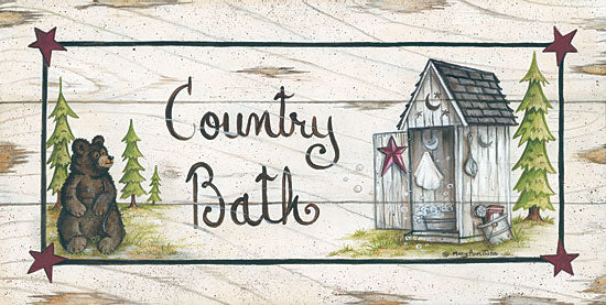 Mary Ann June MARY456 - Country Bath - Bear, Outhouse, Signs from Penny Lane Publishing