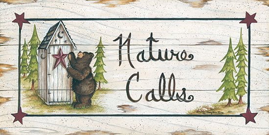 Mary Ann June MARY457 - Nature Calls - Bear, Outhouse, Signs from Penny Lane Publishing