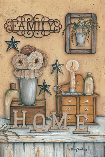 Mary Ann June MARY467 - Family - Home, Flowers, Family, Candles from Penny Lane Publishing